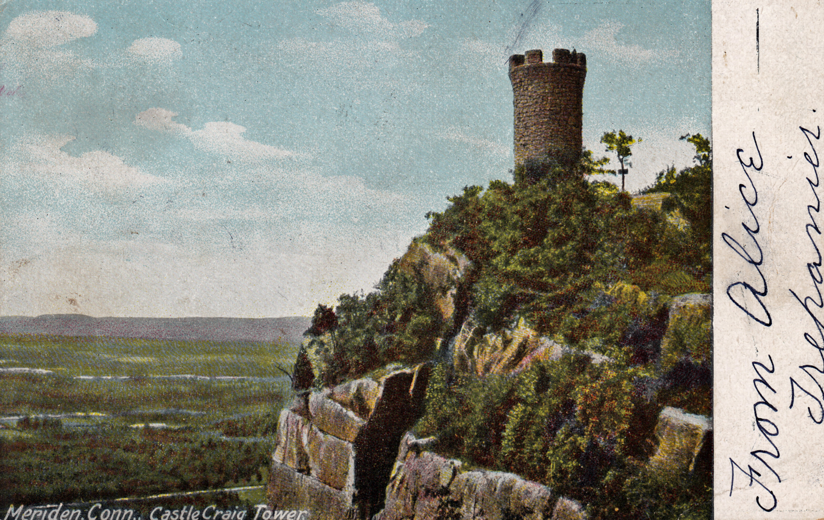 Castle Craig Meriden Ct Postcards Net